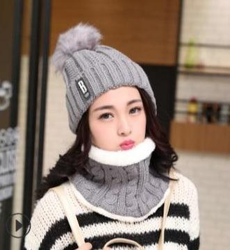 衝撃790円セール★新作 厚手の毛糸帽子★ニット帽 グレー
