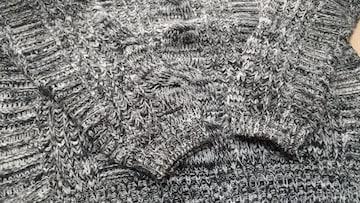 黒×白ニット◆セーター◆Mサイズ
