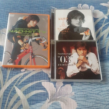 藤木直人/ 初回盤 CD アルバム2枚 とライブ DVD セット