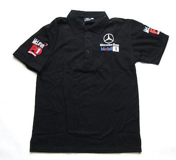 1セール!  ベンツ ロゴ  ポロシャツ ブラック M