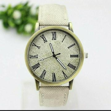 新品 腕時計 シンプル カジュアル 白 アイボリー