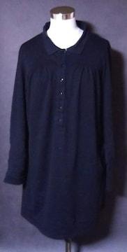 ブラックシャツ風ワンピース3L大きいサイズ