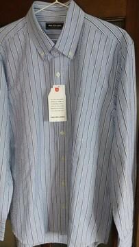 LLサイズ!ブランド品VAN RED LABEL爽やかな紳士的ワッフル素材!長袖シャツ!