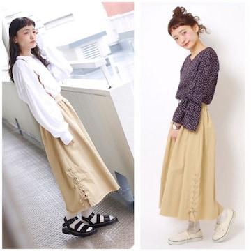 ☆Crisp レースアップロングスカート☆