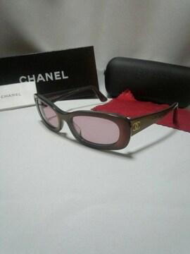 正規新作 美品 CHANEL シャネル グラデーションフレームロゴサングラス 付属品有
