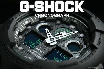 送料込 G-SHOCK CASIO カシオ 1/1000秒クロノデジアナBKGR新品