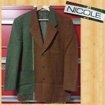 NICOLE ニコル ツイードジャケット M 日本製 ムッシュ