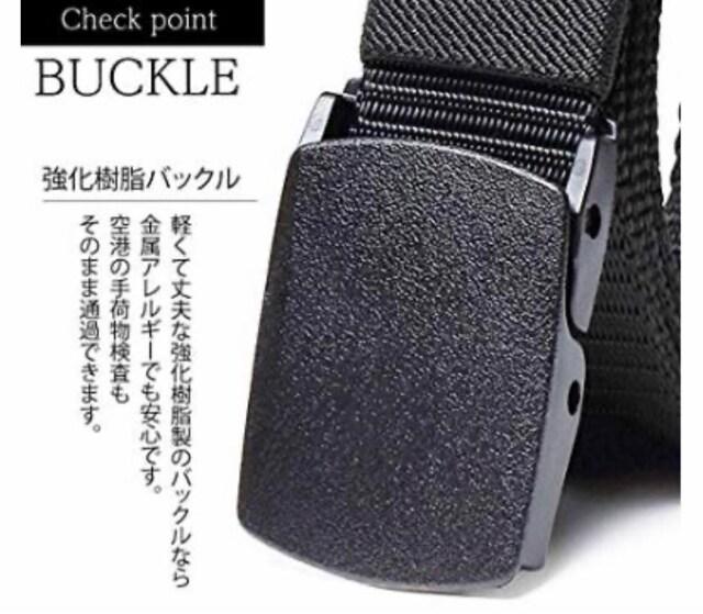 送料無料 ブラック AseiwaA 高品質 ナイロンベルト 軽量 YKK < 男性ファッションの
