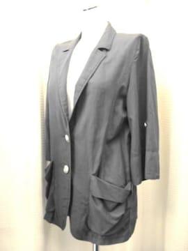 【favori】ダークグレーの薄手ロールアップジャケット