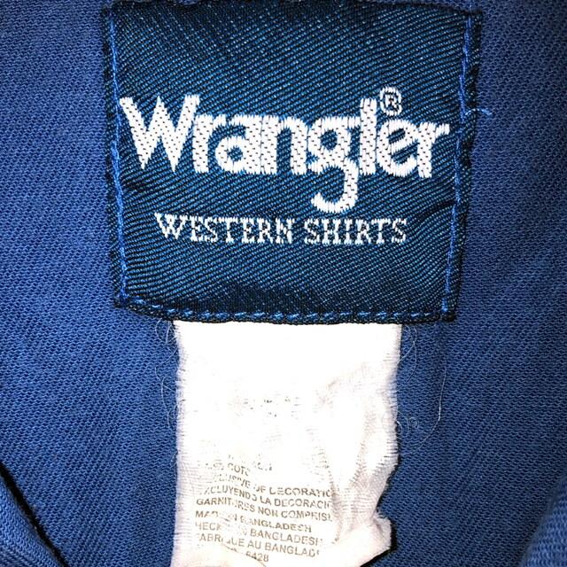 wrangler western ドロップショルダー ビッグシルエット シャツ < ブランドの