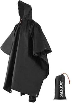 AGPTEK レインコート レインポンチョ 多機能 雨具 帽子 防水 防