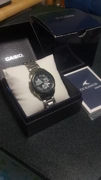 超最高級腕時計 CASIO OCEANUS チタン 取説 箱 外箱あり サファイアガラス
