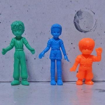 ○ケンツ、カチュア、シャロン 消しゴム人形