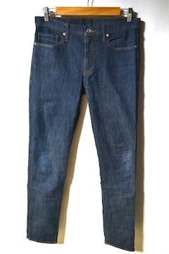 GU ジーユー スキニージーンズ 31 ネイビー メンズ デニムパンツ
