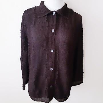 ◆未使用◆絞り◆ブラウン◆ブラウスジャケット◆
