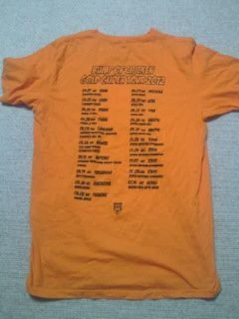 BUMP OF CHICKEN バンプオブチキン ライブ コンサート ツアー Tシャツ オレンジ Lサイズ < タレントグッズの