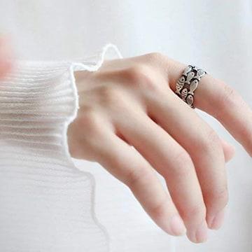 お試し価格490円★高評価 魚群シンプルデザイン指輪 リング
