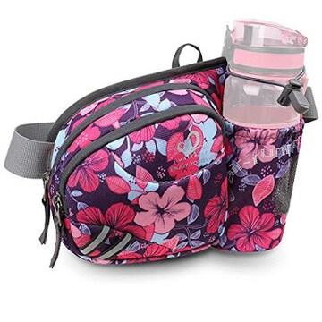 パープル-小花 WATERFLY(ウォーターフライ) ウエストバッグ
