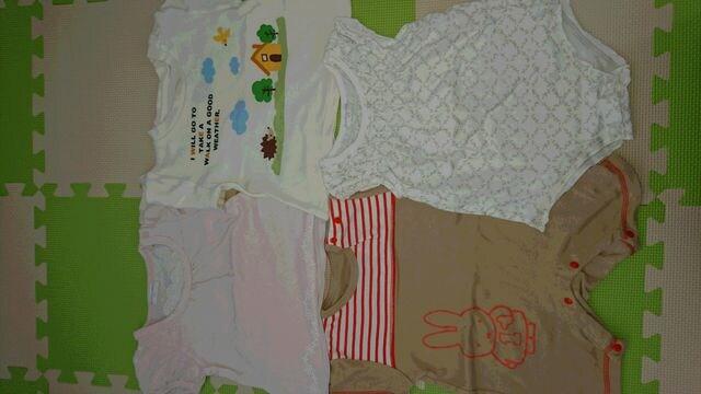 60-70 女の子★まとめ売り ロンパース&Tシャツ  < キッズ/ベビーの