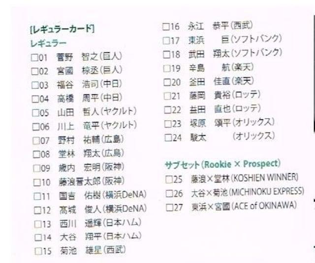 BBM2013 ICONS-HOPE-カードセット 大谷翔平他 < トレーディングカードの