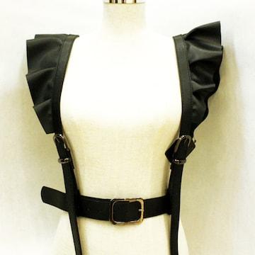 新品[7394]ゴシック v系 ファッション★フリルサスペンダーハーネス
