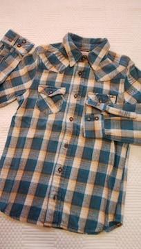 EDWIN ネルシャツ エドウィン 140 アメカジ 美品
