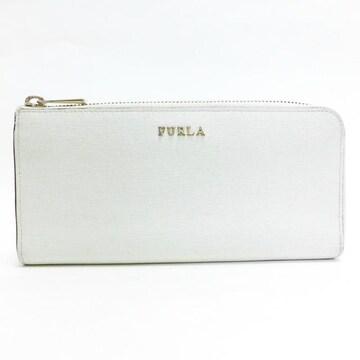 FURLAフルラ L字ファスナー長財布 レザー 白系 良品 正規品