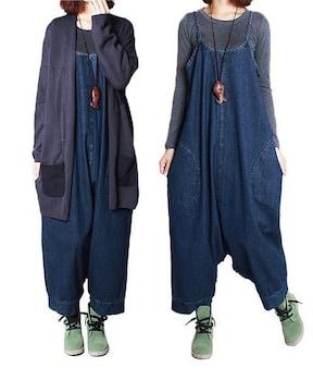 2way ワンピース &サルエル . サロペット パンツ(XLサイズ)