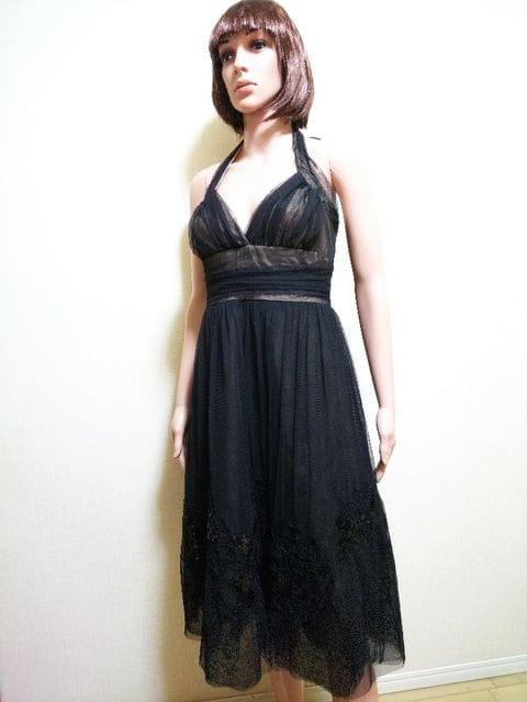 美品☆スパン刺繍&沢山チュールのパーティドレスD29☆3点で即落  < 女性ファッションの