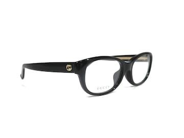 正規未使用グッチメガネフレームインターロッキング眼鏡黒
