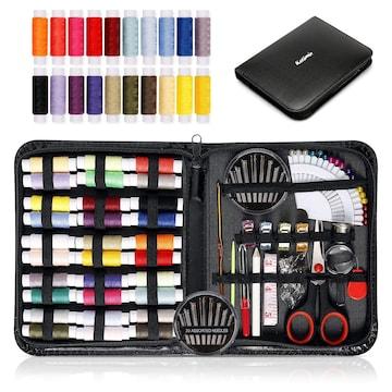 裁縫セット ソーイングセット 携帯式 ブラック