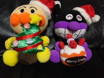 アンパンマン/ばいきんまん/クリスマス/クリスマスツリー&ケーキ/ぬいぐるみ/非売品