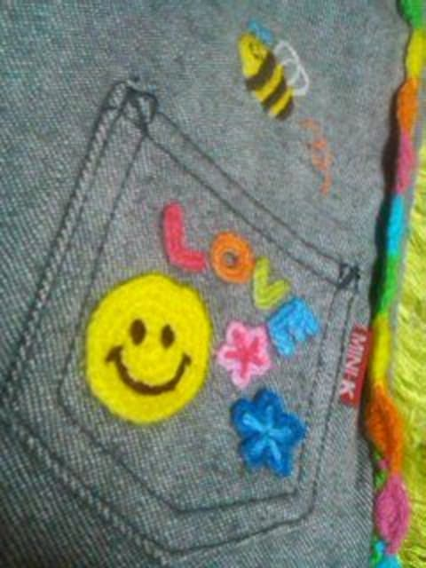 ●ミニK●刺繍パンツ80美品 < ブランドの