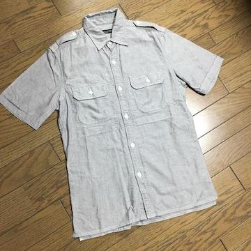 美品BEAMS デザインシャンブレーシャツ 日本製 ビームス