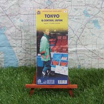 新品【輸入地図】Tokyo/東京 Tokyo & Central Japan -ITMB-