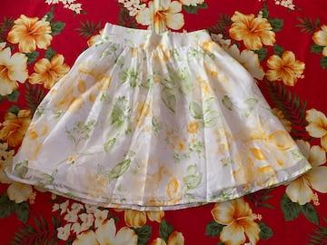 oneway☆可愛い花柄ホワイトスカート☆
