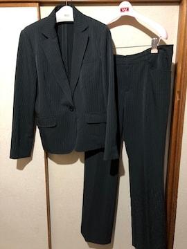 SUCRE☆大きいサイズ 17ABR80  ストライプ パンツスーツ