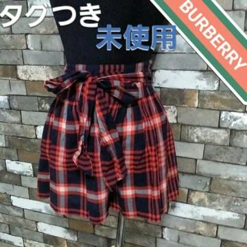 ショートパンツ 赤、紺 チェック柄 BURBERRY