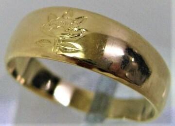 K18 18金 ファッション リング 指輪 サイズ#10 g