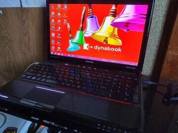dynabook T551/T4CB Win10 i3 750GB 6GB Blu-ray 地デジ