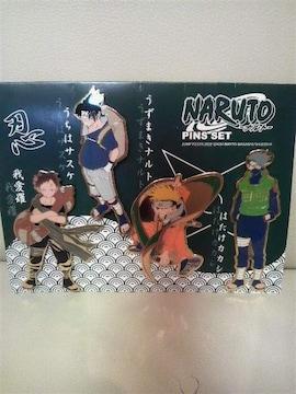 未使用 NARUTOナルト ピンズセット(ピンバッジ)カカシ&ガアラ 我愛羅2002