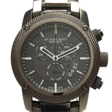 正規BURBERRYバーバリースポーツメンズ腕時計ブラック