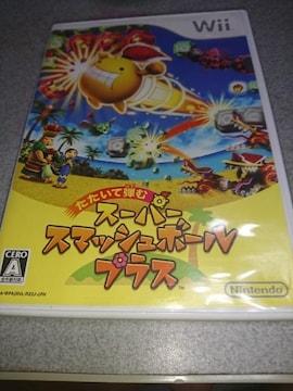 Wii!箱説あり!たたいて弾む スーパースマッシュボール・プラス