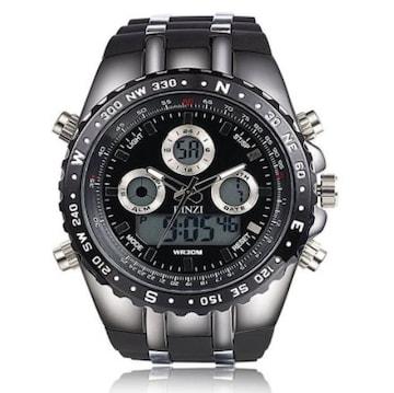 軍事腕時計 アナデジ表示