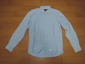 WTAPS ダブルタップス BDシャツ S 水色系 PLAIN 長袖