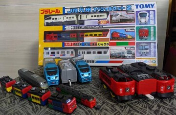 JR九州スペシャルセット/プラレール/ソニック/霧島&ひゅうが/881系/プラレール/他