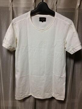 BEAMS ビームス 無地 半袖Tシャツ Sサイズ 白色 日本製 ユーズド加工 古着
