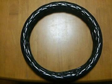 美品ハンドルカバー 自動車専用 中古品  エナメルモコモコタイプ