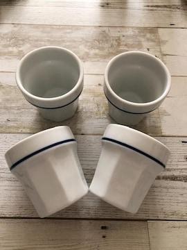 リトルマーメイド ブルーライン フリーカップ 4個セット