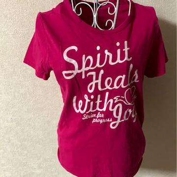 ピンク★カジュアル★Tシャツ★サイズL